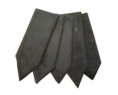 100 Natural Slate Garden Flower Plant Markers Label Tags Stakes Herb Vegetables