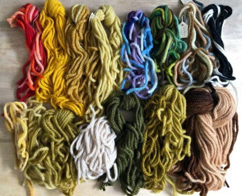 Lot of Vintage Thick 100% Wool Winkie Rug Yarn 350 Grams Colors Cut Pieces