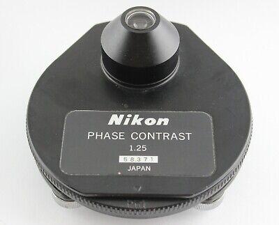 Nikon Microscope 1.25 Phase Contrast Darkfield Condenser Ph1 Ph2 Ph3 Ph4 Df Bf