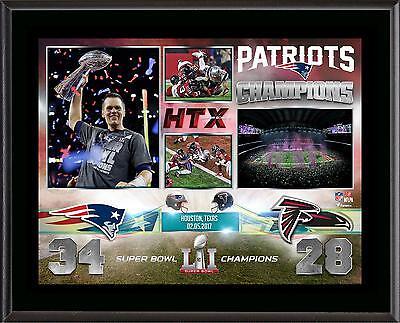 New England Patriots 10.5x13 Super Bowl LI Champions Plaque
