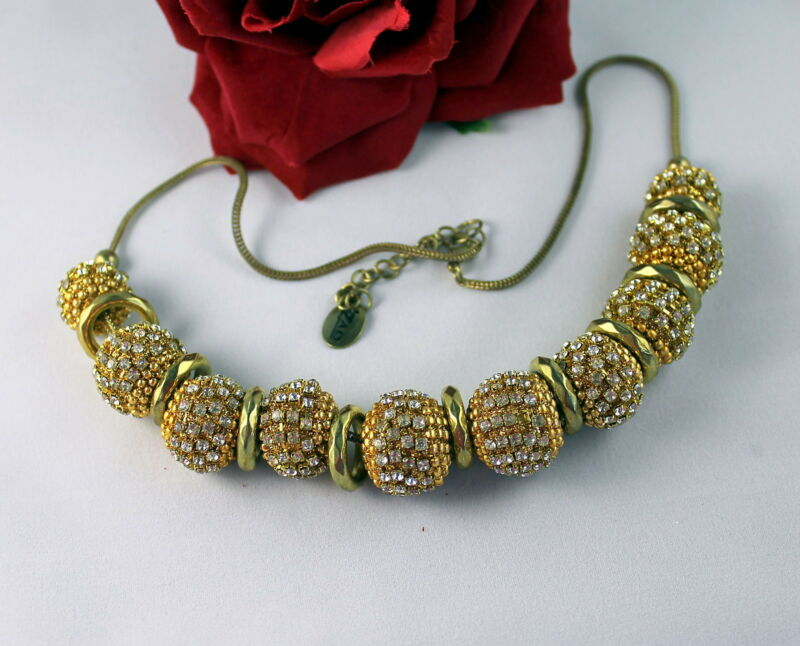 Gorgeous ZAD Modern Faux Rhinestone Beaded  NEcklace CAT RESCUE