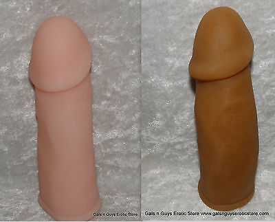 Futurotic Male Penis Extender Mens Enhancer Sleeve Reusable Stretchy Ivory (Brown Brown Male)