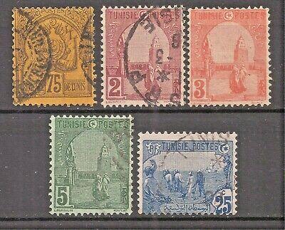Tunisia   Sc #23//39   used   CV $12.50     gtc