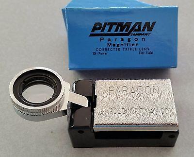 NEW!!  PITMAN PARAGON 10X / 10 POWER PRINTER'S FOLD-OUT MAGNIFIER / LOUPE / - Paragon Printer