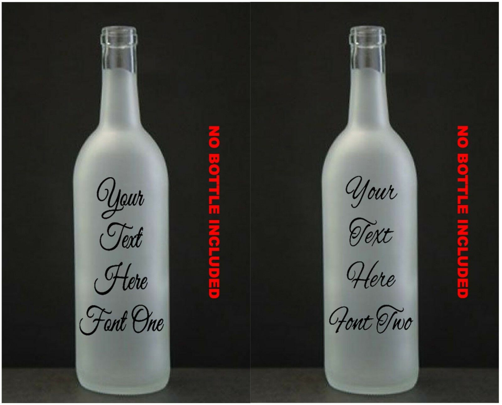 Home Decoration - Customised  Wine Bottle Vinyl Sticker . Design your own LED memory