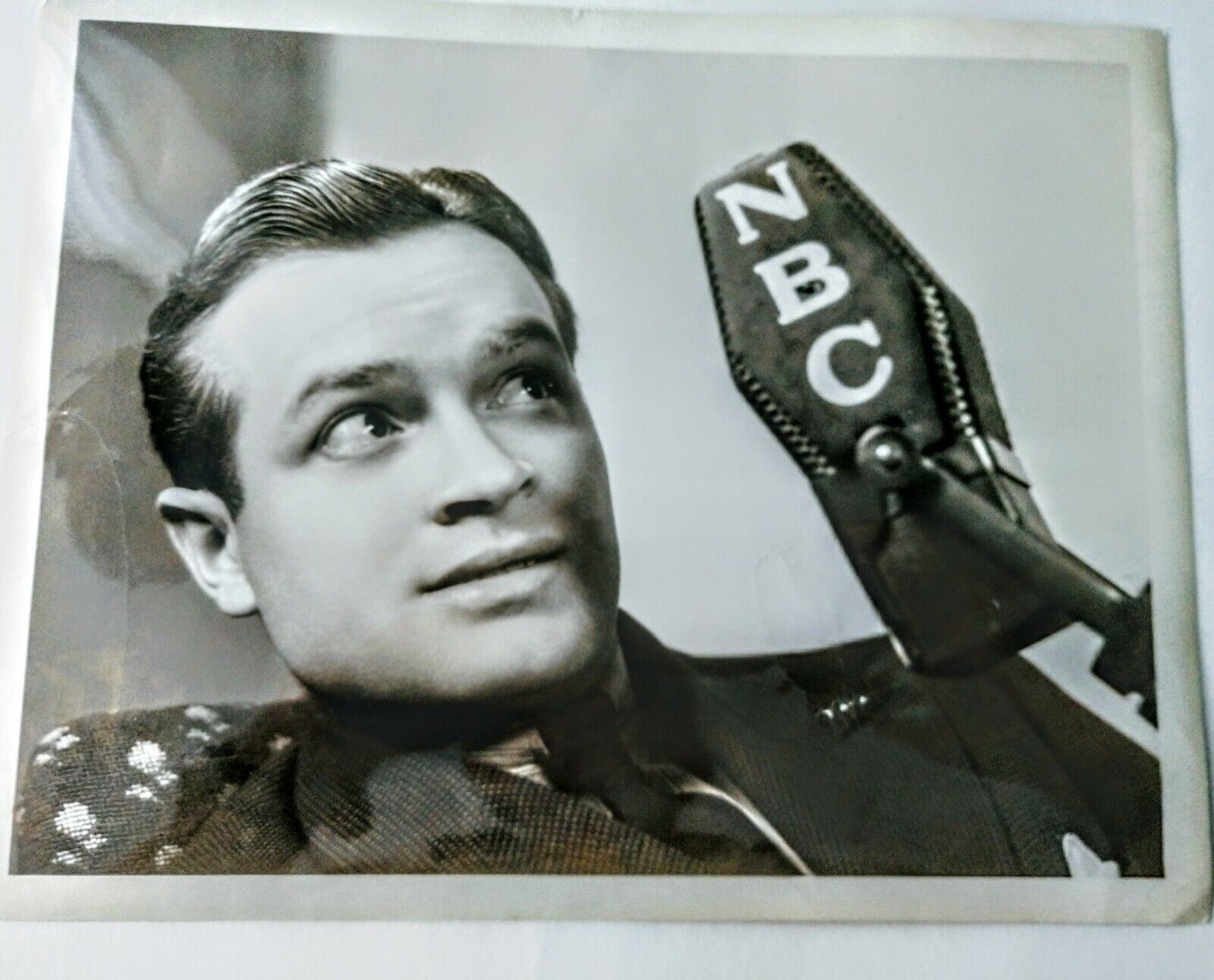 Bob Hope 1939 Publicity Photo With NBC Microphone. - $25.00