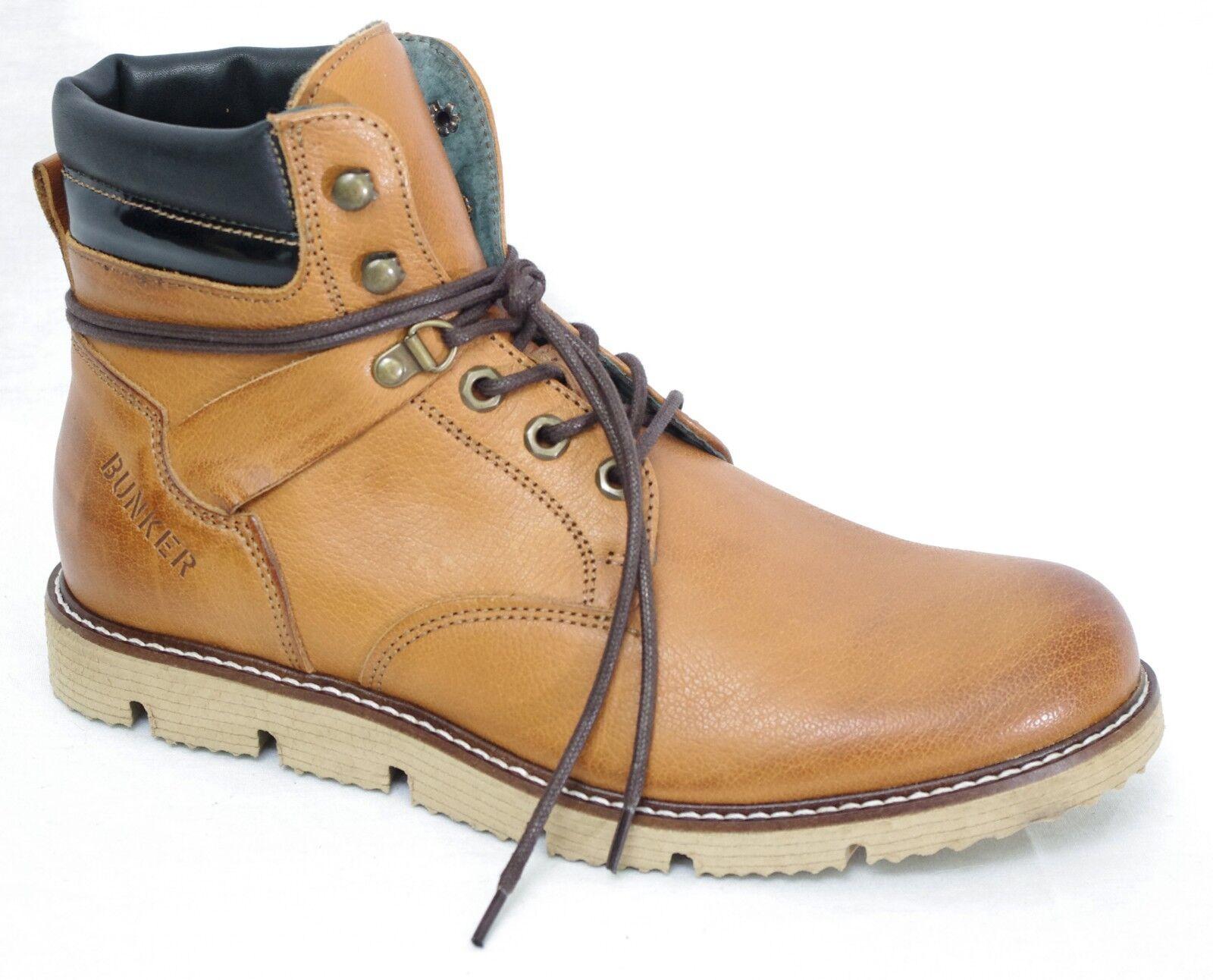 cdfa7fd702 BUNKER B982 TR7 chaussures Boots cuir marron homme Hyper légeres   eBay