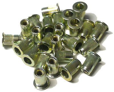 Rivet Nuts 10-24 Steel 25pc Buy 3 Or More 10 Rebate Rivnut Riv Nut Nutsert