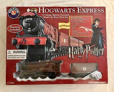 2008 Lionel Harry Potter Hogwarts Express G-Gauge Train Set 7-11080 Works Great!