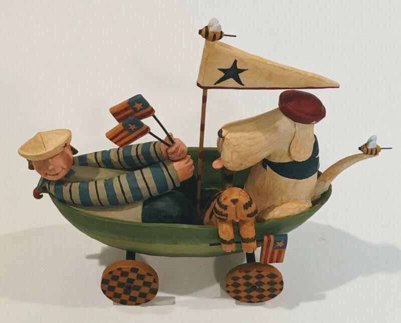 """Williraye Studio - """"S.S.Watermelon"""" - WW7769 - Excellent Condition RARE Folk Art"""