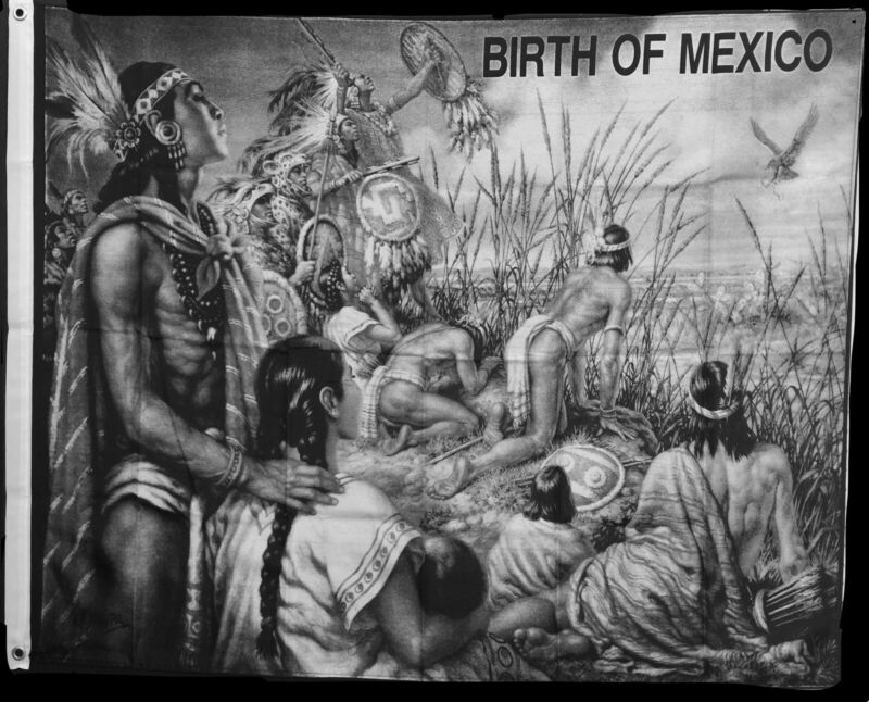 Aztec Flag Banner/ Birth Of Mexico Banner/Flag