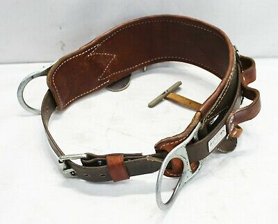 Bashlin Industries Model 473s Lineman 2 D-ring Tool And Climbing Leather Belt