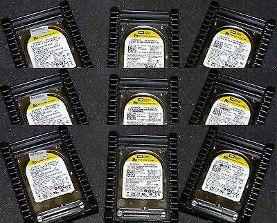 "Our Best! Lot of 9 - 160Gb Western Digital VelociRaptor,10kRPM,3.5"" WD1600HLFS"