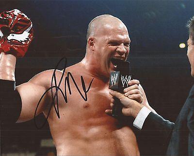 WWE WRESTLING: KANE SIGNED 10x8 ACTION PHOTO+COA **PROOF**