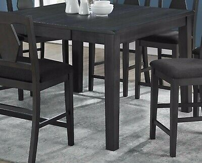 Kitchen 8pc Set Dining Table w Butterfly leaf Counter height Chairs Bench Gray