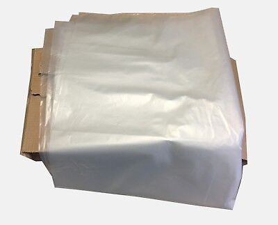 100 X large CLEAR Refuse Sacks Bin Liner Rubbish Bags thick 140g 450x725x975mm