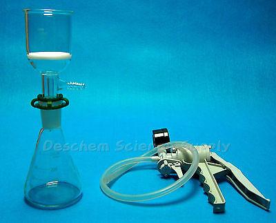 250mlglass Filtration Kiterlenmeyer Flask Filter Funnel Handle Vacuum Pump