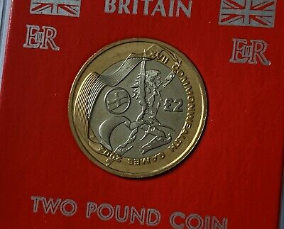 2002 England English Flag Commonwealth Games £2 Coin (EF/UNC) in Display Case