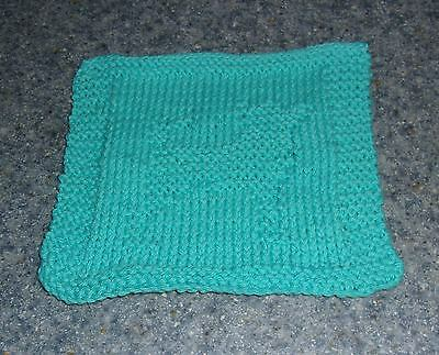 Brand New Hand Knit Chihuahua Dog Blue Dish Cloth For Dog Rescue Charity