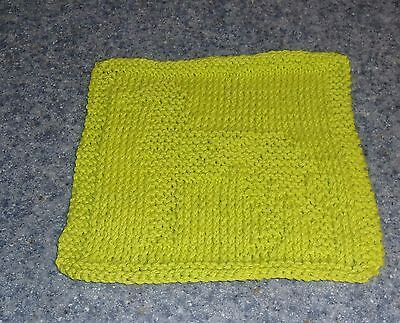 Brand New Hand Knit Great Dane Design Cotton Dish Cloth Dog Rescue Charity