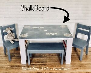 Chalkboard Top Art Table Set