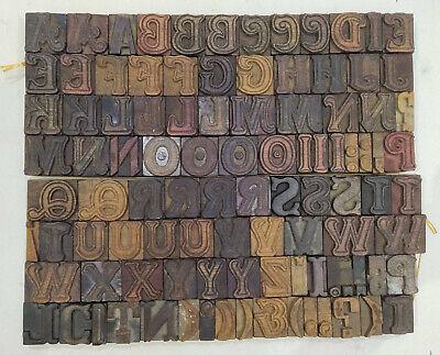 Vintage Letterpress Woodwooden Printing Type Block Typography 108 Pc 34mmtp-4