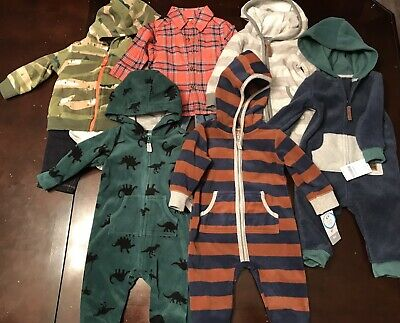 Infant Baby Boy 6 Month Carters Clothing Lot Outfits & Sets Fleece Zip Hoodie