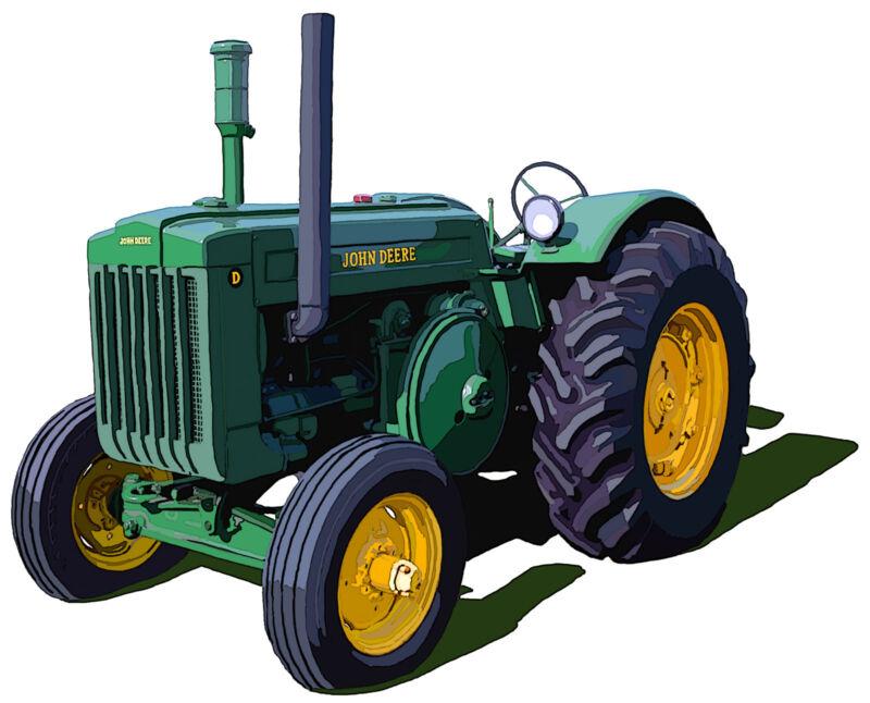 John Deere Model D canvas art print by Richard Browne farm tractor