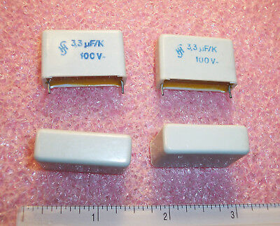 Qty 10 3.3uf 100v 10 Metallized Box Film Capacitors B32234-a1335k Siemens