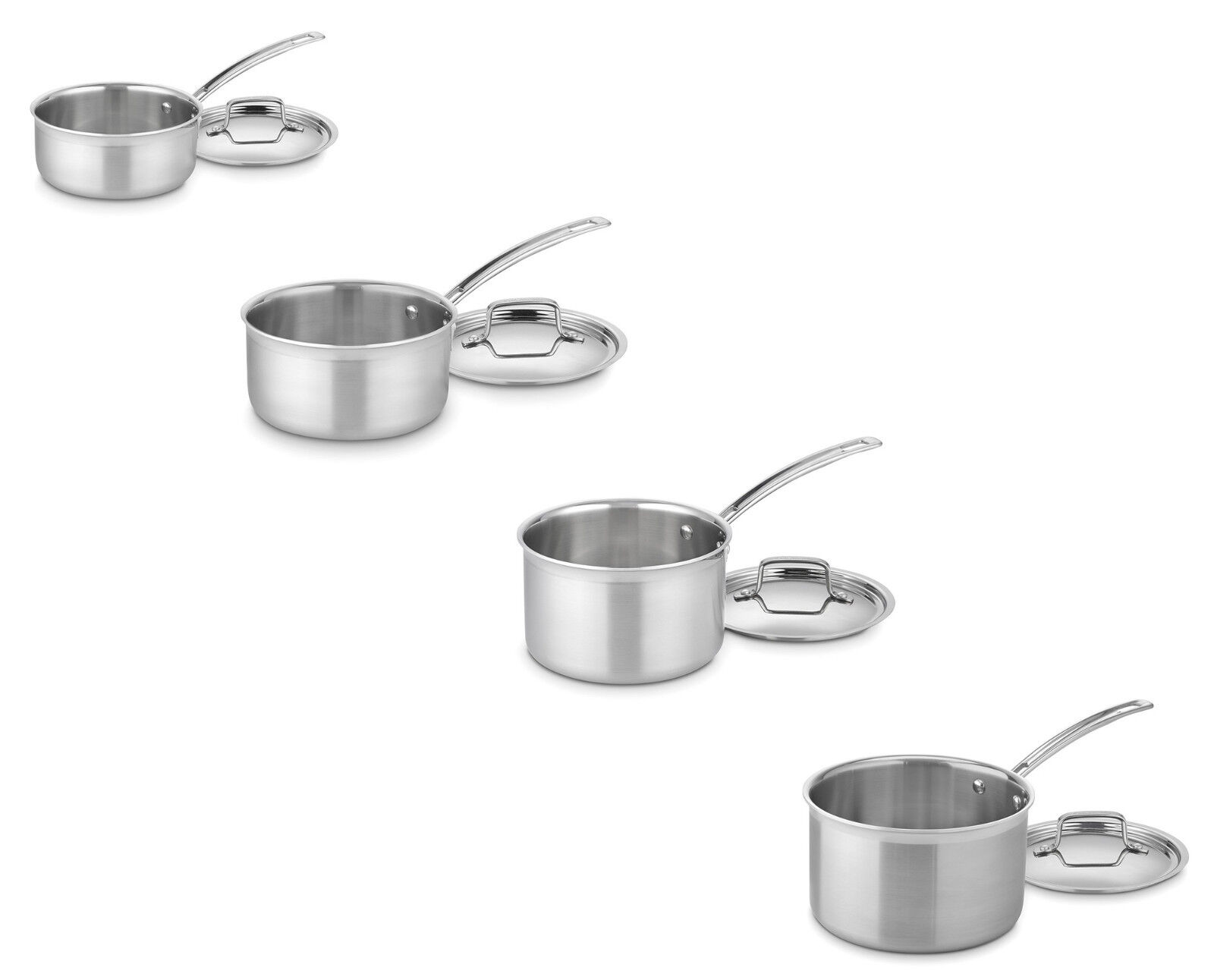 Cuisinart MultiClad Pro Stainless Steel 1.5, 2, 3, 4-Quart S