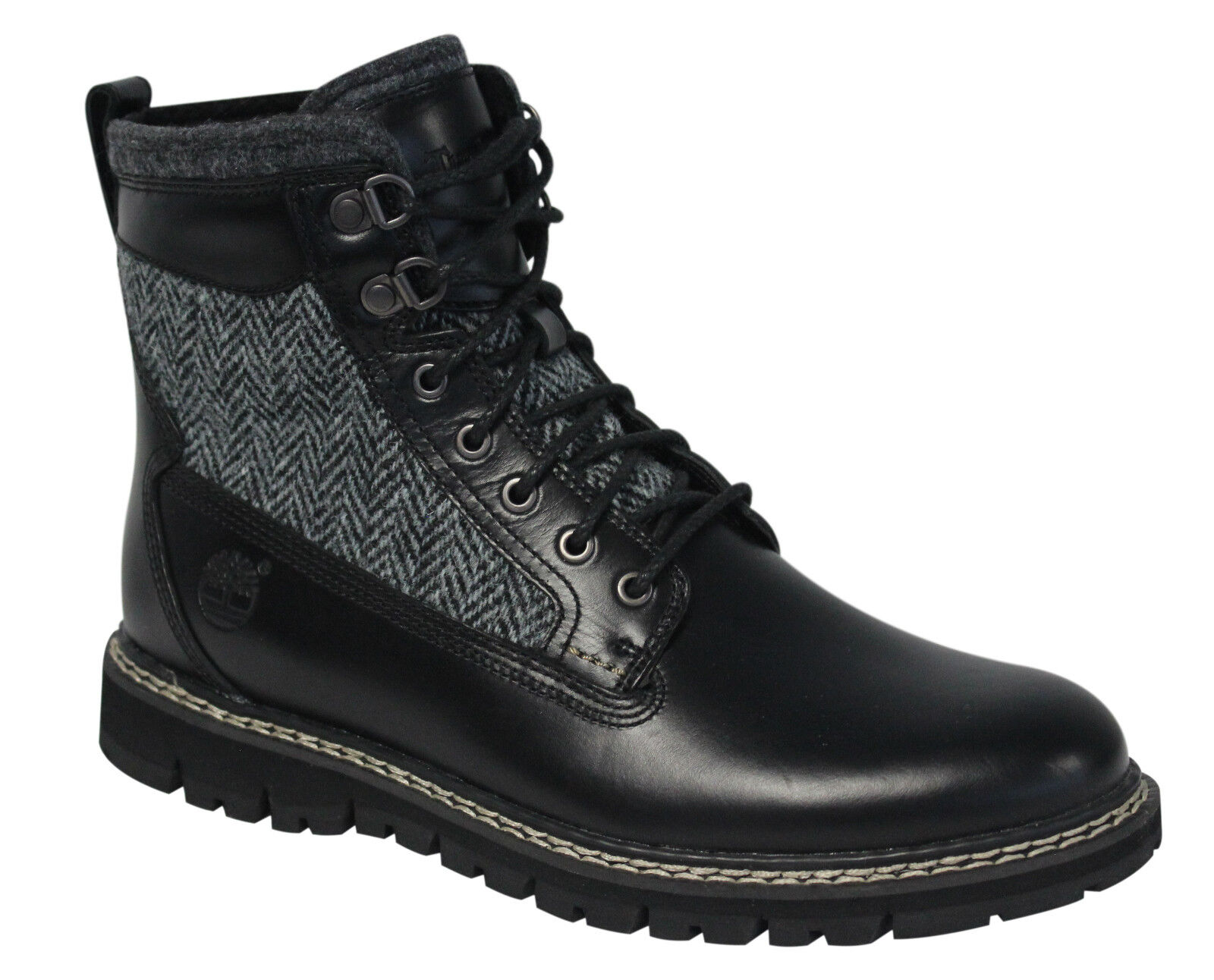 Details about Timberland Britton Hill 6 Inch Warm Lined Leather Mens Boots Black 9721B D74