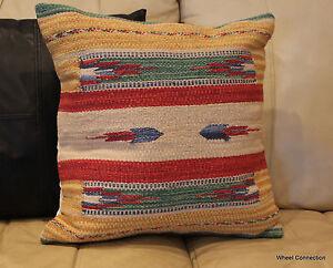 Rug Throw Pillow Woven Cotton Cushion Cases Southwestern Aztec Kelim  Designer