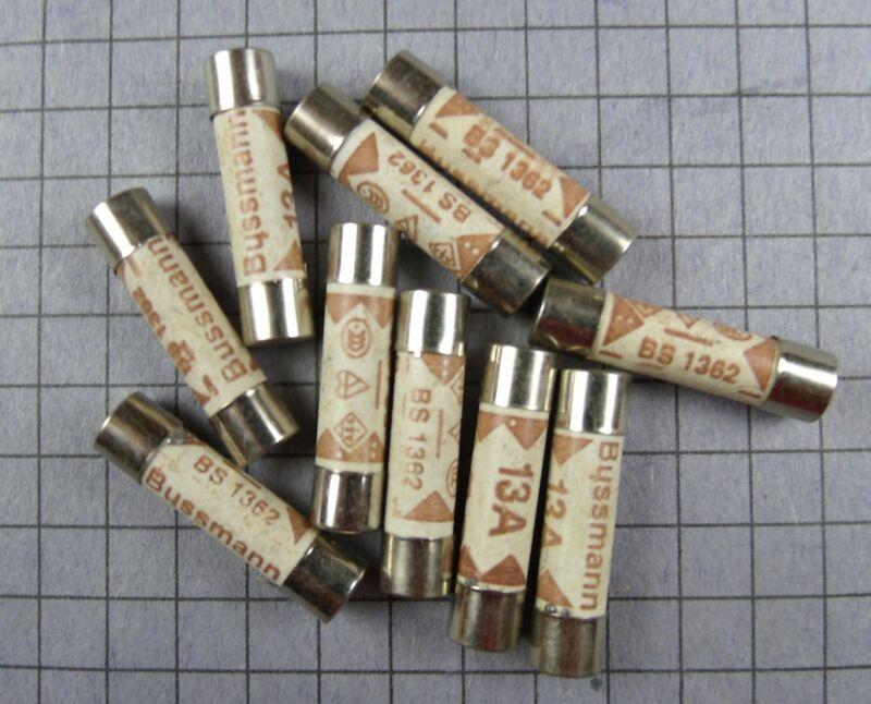 """FUSE : BS1362 : 13A : Ceramic, 6x25mm, 8AG, 1/4"""" x 1"""" : 10pcs per lot"""