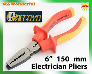 6-150mm-Electricians-Cable-Wire-Stripping-Strippers-Pliers-VED-1000V-Pliers