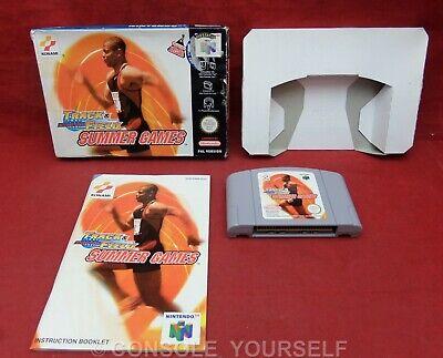 INTERNATIONAL TRACK & FIELD SUMMER GAMES USED COMPLETE NINTENDO 64 N64 - PAL UK