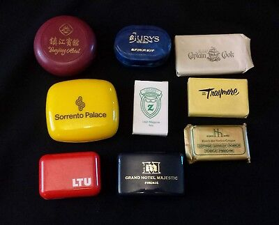 Vintage Soaps Hotels Airline in Plastic Containers, Wrappers International