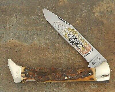 RARE PARKER FROST KISSING CRANE SAMBARSTAG JUMBO LOCKBACK KNIFE 1976-78 SOLINGEN