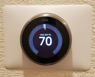 Google Nest Learning Thermostat - Stainless Steel, 3rd Generation (T3007ES)