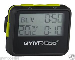 GYMBOSS-INTERVAL-TIMER-AND-STOPWATCH-BLACK-YELLOW-SOFTCOAT-FR-GYMBOSS-HQ