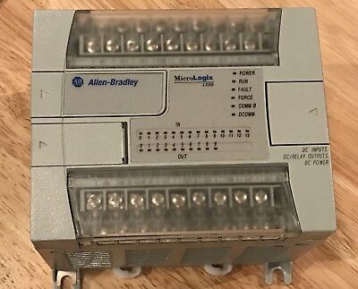 Allen Bradley Micrologix 1200 Plc Controller 1762-l24bxb Ser C Frn 10 Wcable