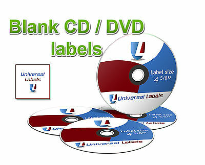 500 Blank Cd Dvd Labels - 2 Cd Labels  4 Spines Per Sheet - Made In The Usa