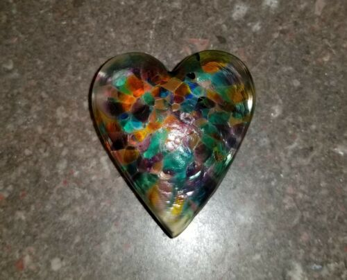 Robert Held Art Glass Heart Paperweight ... Beautiful