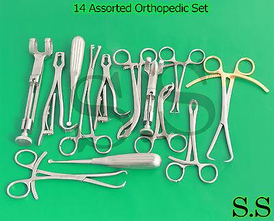 14 Assorted Orthopedic Surgical Instruments Custom Made Setsr-531