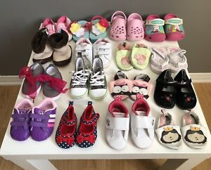 Baby Girl Shoes Lot l Sizes 1-5
