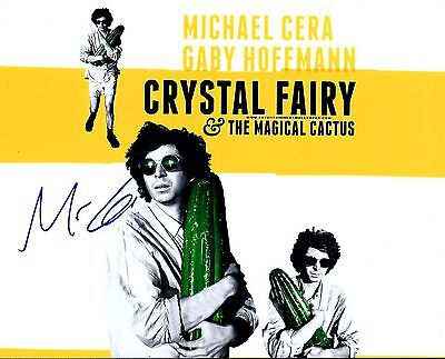 Michael Cera Signed Crystal Fairy 8X10 Photo    Photo Proof    Juno Arrested
