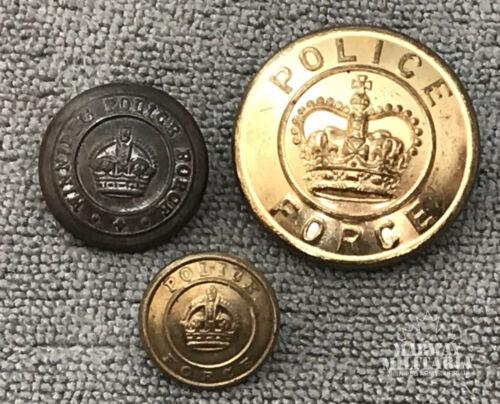 Canadian Police Uniform Button Lot  (22734)