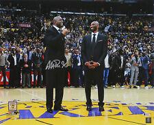 Lakers Magic Johnson Signed 16x20 Kobe Number Retirement Photo BAS Witnessed
