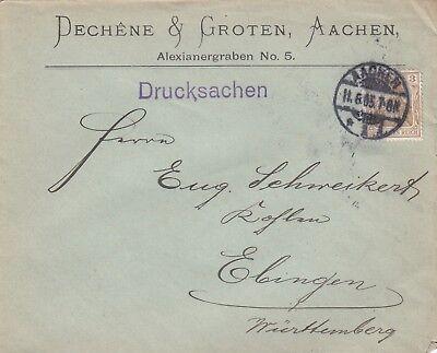AACHEN, Briefumschlag 1905, Dechene & Groten