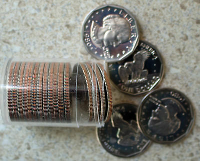 1980 SBA Proof Roll Susan B Anthony Dollars 20 Coins One Dollar PROOF Small $1 Anthony Dollar Roll 20 Coins