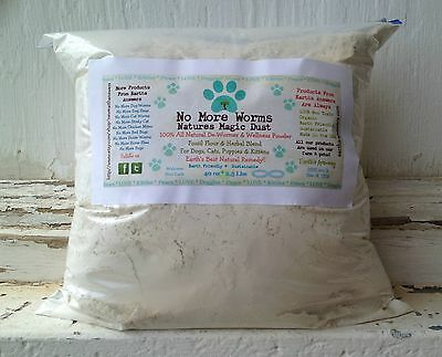2 LB BULK Dog Wormer Cat Kitten Worm Treatment NATURAL Parasite Control